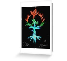 computer generated version of peace tree Greeting Card