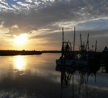 Shrimp Boat Sunset by kevint