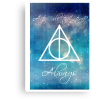 Harry Potter Deathly Hallows Always Canvas Print