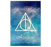 Harry Potter Deathly Hallows Always Photographic Print