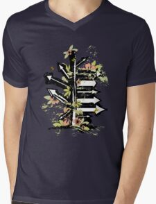 floral arrows Mens V-Neck T-Shirt