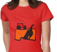 TRACTOR AND DIGGING DOG  Womens Fitted T-Shirt