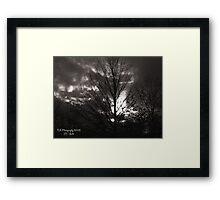 DULL SUNSET Framed Print