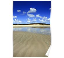 Waves in the sand, Spirits Bay Poster