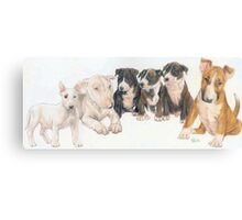Bull Terrier Puppies Canvas Print