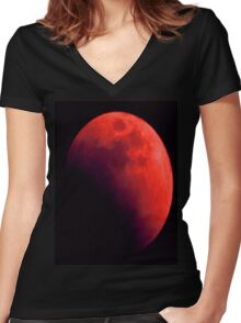 Eclipse t-shirt Women's Fitted V-Neck T-Shirt