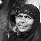 Muslim Woman Charminar by Andrew  Makowiecki
