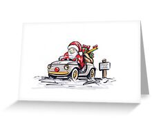 Santa's New Sleigh Greeting Card