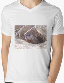 Mama Groundhog Mens V-Neck T-Shirt