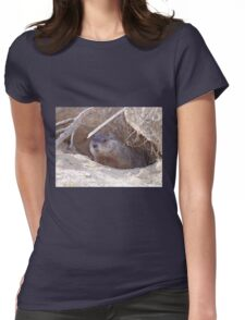 Mama Groundhog Womens Fitted T-Shirt