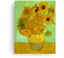 'Twelve Sunflowers' by Vincent Van Gogh (Reproduction) Canvas Print