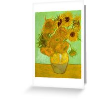 'Twelve Sunflowers' by Vincent Van Gogh (Reproduction) Greeting Card