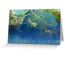 Just For Today Koi Greeting Card