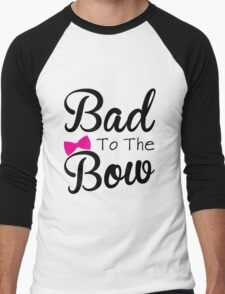 Funny, bad, bows, cute Men's Baseball ¾ T-Shirt