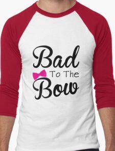 Funny, bad, bows, cute Men's Baseball ¾ T-Shirt