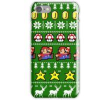 Super Mario 8-bit Ugly Christmas iPhone Case/Skin