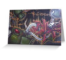 Space attack Greeting Card