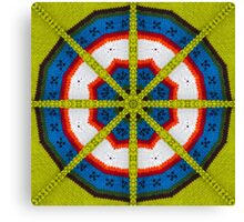 Knitted Target Canvas Print