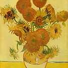 'Still Life with Sunflowers' by Vincent Van Gogh (Reproduction) by Roz Abellera Art Gallery