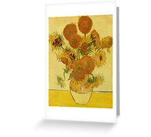 'Still Life with Sunflowers' by Vincent Van Gogh (Reproduction) Greeting Card