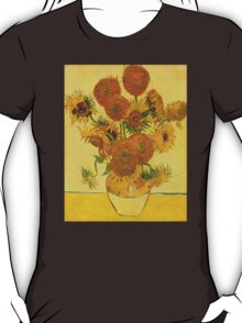 'Still Life with Sunflowers' by Vincent Van Gogh (Reproduction) T-Shirt