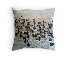 Lake O' Ducks Throw Pillow