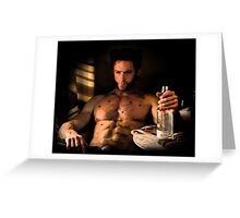 Wolverine X- Men Greeting Card