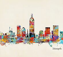 Indianapolis Indiana skyline by bri-b