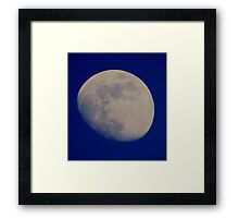 MOON EARLY EVENING Framed Print