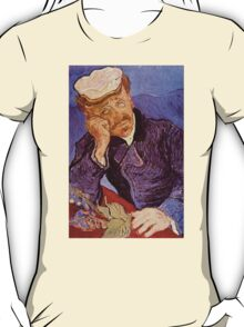'Portrait of Dr. Gatchet' by Vincent Van Gogh (Reproduction) T-Shirt