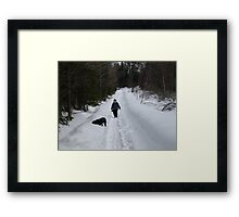 NC time for a walk Framed Print
