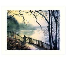 """Wellington Lake, Roundhay Park"" Art Print"