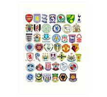 Football teams Art Print