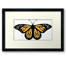 Colored butterfy 6 Framed Print