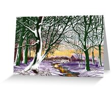 """Cottage at Twilight"" Greeting Card"