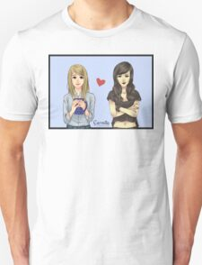 Carmilla and Laura from Carmilla Web Series (with bg) Unisex T-Shirt