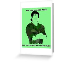 Looky Looky I Got Hooky (w/ quote) Greeting Card