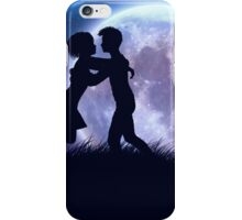 Couple silhouette in the night iPhone Case/Skin