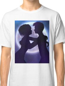 Couple silhouette in the night 2 Classic T-Shirt