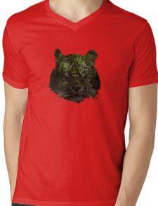Tiger Spirit forrest Mens V-Neck T-Shirt