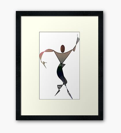 Silouhette Woman 7 Framed Print
