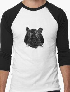 Tiger in black and white Men's Baseball ¾ T-Shirt