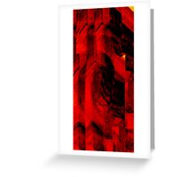 RED COLOM Greeting Card
