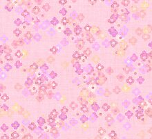 pink layered flowers card by thepatternroom