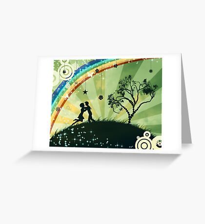 Couple under the tree Greeting Card