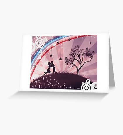 Couple under the tree 2 Greeting Card