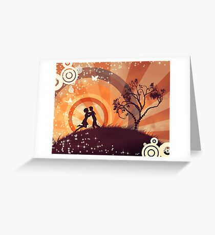 Couple under the tree 3 Greeting Card