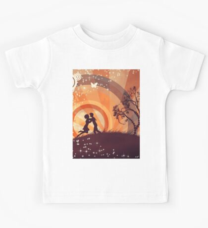 Couple under the tree 3 Kids Tee