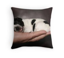 Pupp-ed Out! Throw Pillow