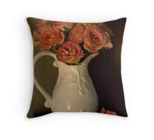 Victorian bouquet Throw Pillow